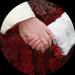Stephanie and Mya Ross holding hands